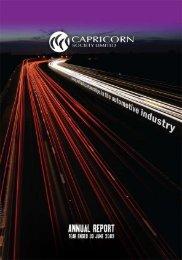 CSL Annual Report - Year ending 30 June 2009 - Capricorn Society