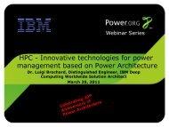 Dr. Luigi Brochard, Distinguished Engineer, IBM Deep ... - Power.org
