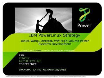 IBM PowerLinux Strategy - Power.org
