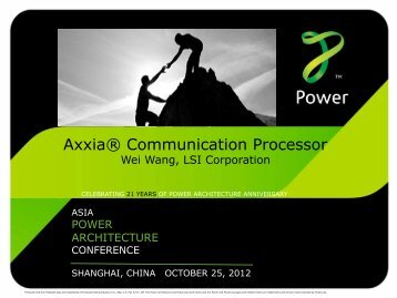 Axxia® Communication Processor Overview - Power.org