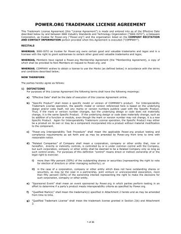 Nfc forum inc trademark license agreement for the org trademark license agreement platinumwayz