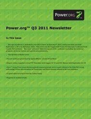 Power.org Q3 2011 Newsletter final