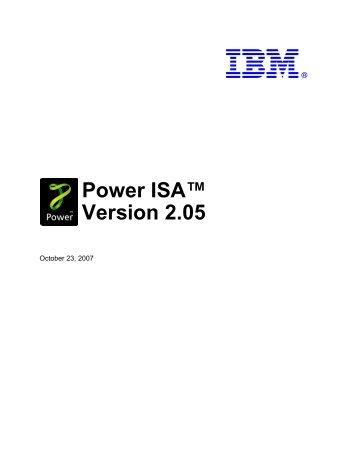 Power ISA™ Version 2.05 - Power.org
