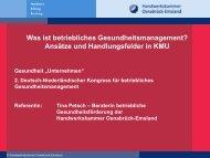 Tina Petsch, HWK Osnabrück-Emsland - Fit for Business