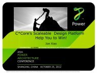 C*Core's Scaleable Design Platform Help You to Win! - Power.org