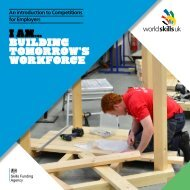 An introduction to Competitions for Employers - WorldSkills UK