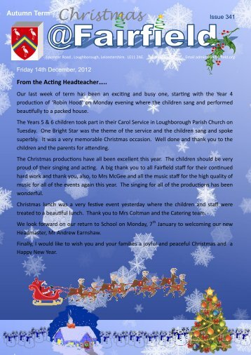 Christmas - Fairfield Preparatory School