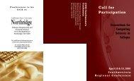 Conference brochure - CCSC