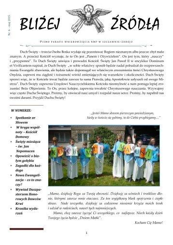 BLIŻEJ ŹRÓDŁA nr 6 - maj 2015