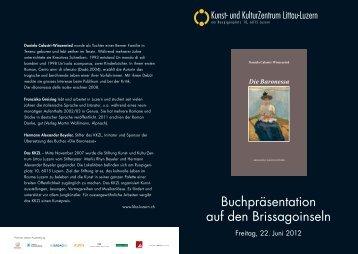 Buchpräsentation auf den Brissagoinseln - Beyeler Collection