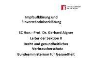 Vortrag SC Prof. Dr. Gerhard Aigner - Bundesministerium für ...