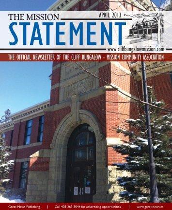 Mission Statement April 2013 - Cliff Bungalow-Mission Community ...