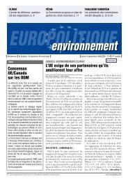 environnement - Europolitique