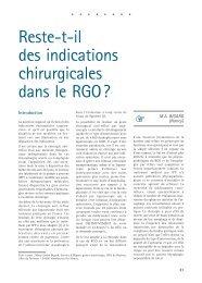 Reste-t-il des indications chirurgicales dans le RGO?