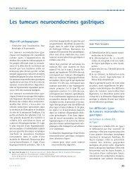 Les tumeurs neuroendocrines gastriques
