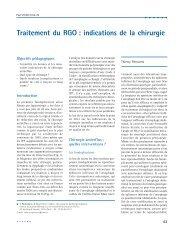 Traitement du RGO : indications de la chirurgie