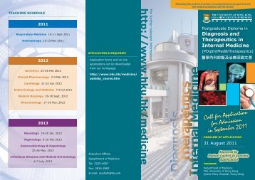 PD leaflet 2011.ai - Department of Medicine, HKU & QMH - The ...