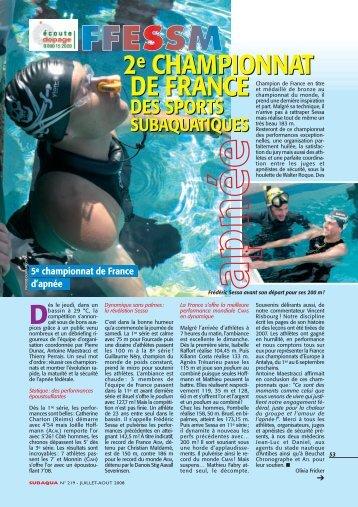 2e CHAMPIONNAT DE FRANCE 2e ... - Nage en Eau Vive