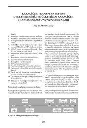 Karaciğer Transplantasyon Deneyimlerimiz ve Ülkemizde ... - VHSD