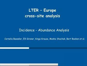 Incidence - Abundance Analysis - UfZ