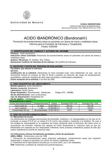 ACIDO IBANDRÓNICO (Bondronat®) - Sociedad Española de ...