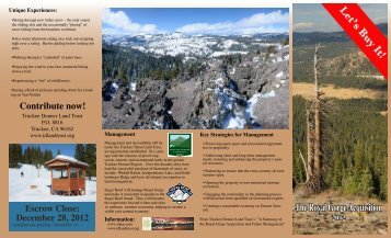 brochure in PDF form - Explore Donner Summit