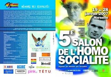 Salon Homosocialité 2007 - Gais et Lesbiennes Branchés