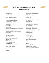 Previous Exhibitors 2010/2011 - Helicopter Association of Canada