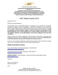 HAC Safety Awards 2012 - Helicopter Association of Canada