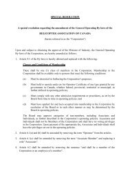 AGM Agenda Item 7 Special Resolution to Amend the By-Laws of ...