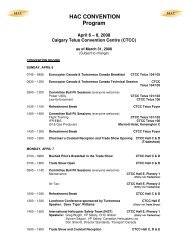 HAC CONVENTION Program - Helicopter Association of Canada