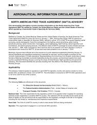 Aeronautical Information Circulars - Helicopter Association of Canada
