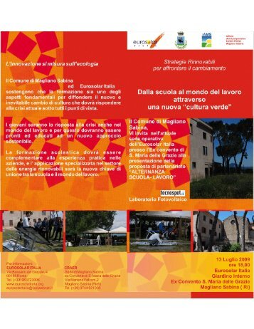 Programma (pdf) - Eurosolar Italia