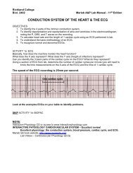 CONDUCTION SYSTEM OF THE HEART & THE ECG
