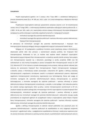 Uzasadnienie - Biuletyn Informacji Publicznej MSW