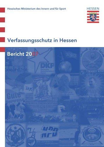 Verfassungsschutz in Hessen Bericht 2007