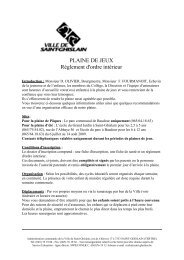 PLAINE DE JEUX Règlement d'ordre intérieur - Saint-Ghislain