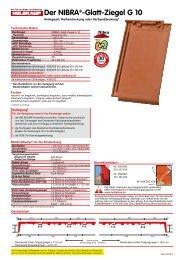 Der NIBRA®-Glatt-Ziegel G 10 - Nelskamp