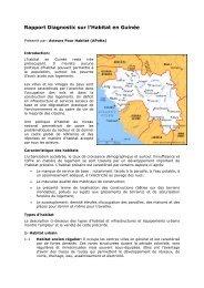 Rapport diagnostic sur l'habitat en Guinée - HIC-MENA