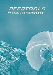 PEERTOOLS AG      HSS–Metallkreissägenblätter