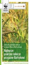 Najlepsze praktyki rolnicze przyjazne Bałtykowi - WWF