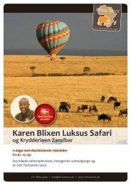 Karen Blixen Luksus Safari