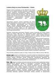 Program ochrony środowiska na lata 2000-2010 dla miasta ... - WWF