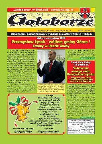 Przemysław Łysak - wójtem gminy Górno !