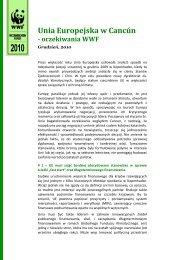 Unia Europejska w Cancún - oczekiwania WWF