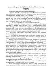 Sprawozdanie z pracy Komisji Oświaty, Kultury, Zdrowia i Ochrony ...