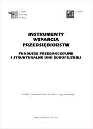 instrumenty wsparcia przedsiębiorstw - Lubelska Fundacja Rozwoju