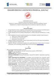 regulamin rekrutacji i uczestnictwa w projekcie - Lubelska Fundacja ...