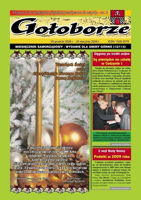 Podatki w 2009 roku Są pieniądze na szkołę w Cedzynie !