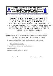 PROJEKT TYMCZASOWEJ ORGANIZACJI RUCHU - rzislupsk.pl
